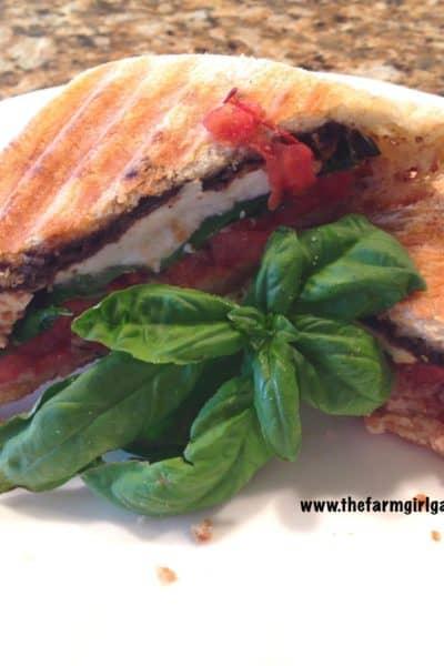 Cooking With Fresh Herbs:  Caprese Panini with Fresh Mozzarella, Basil & Tomato