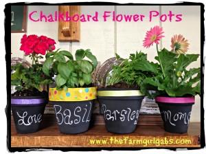 A Pinteresting Idea! – Chalkboard Flower Pots