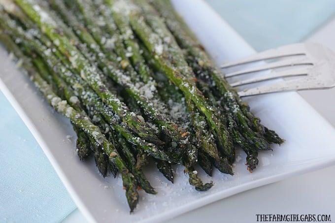 Roasted Asparagus with Garlic & Parmesan