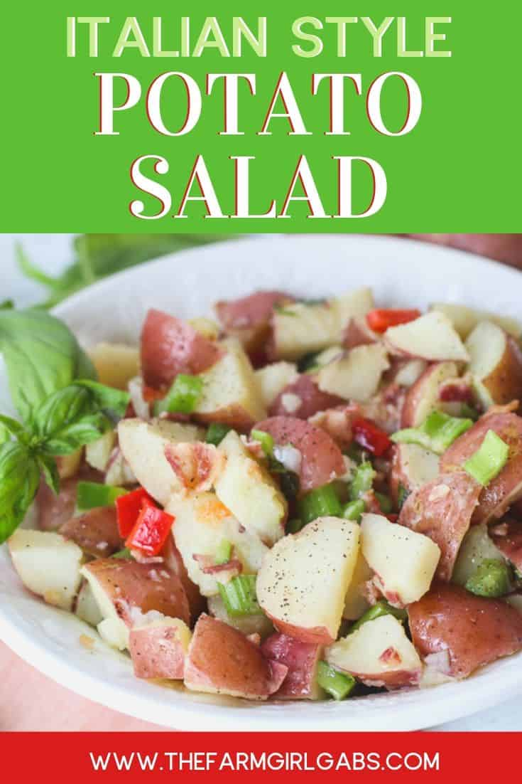 This flavorful Italian Potato salad is always a staple at any summer gathering I host. It's a perfect non-mayo potato salad alternative for summer parties, potlucks or just as a simple side dish.....and it has bacon in it! Enough said!