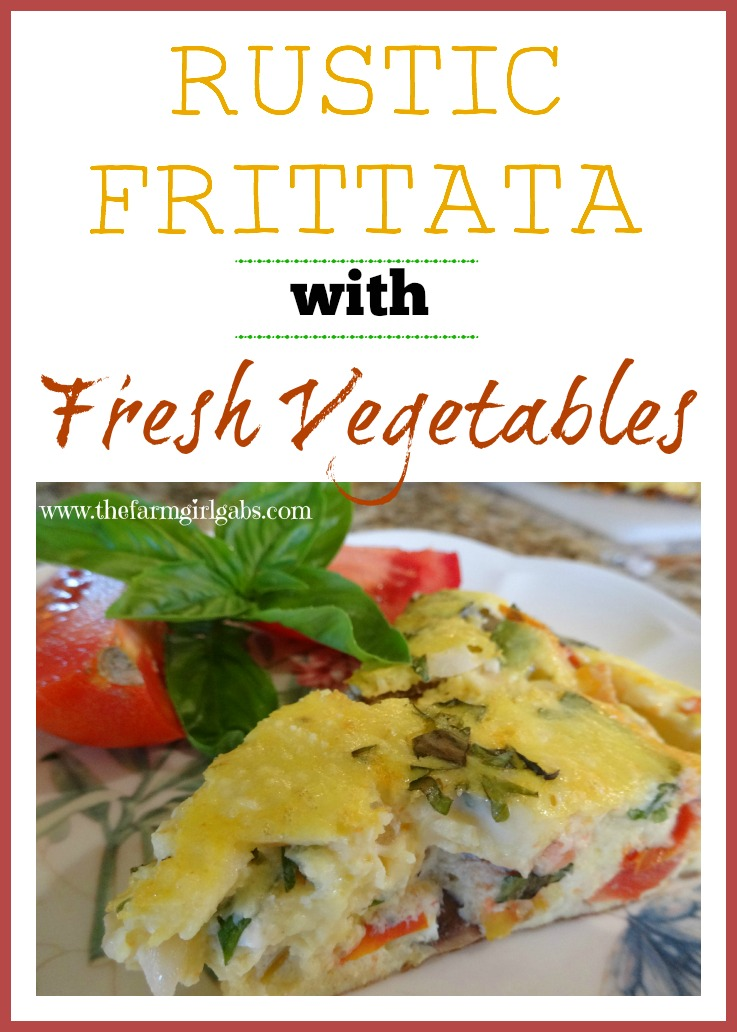 Rustic Frittata with Fresh Vegetables from How Does Your Garden Grow? ~ www.thefarmgirlgabs.com