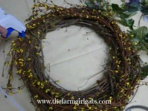 diy wreath step 1