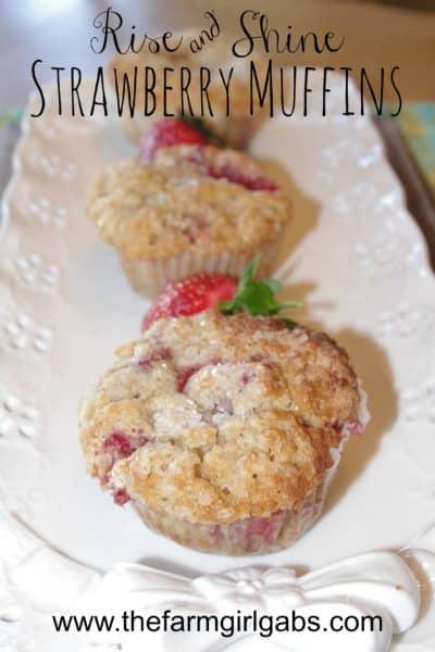 Rise And Shine Strawberry Muffins
