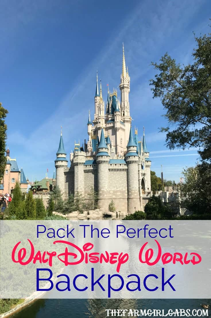 Tips and tricks on how to Pack The Perfect Walt Disney World Backpack. Great travel tips and suggestions for your next Disney family vacation. #WaltDisneyWorld #travel #packingtips