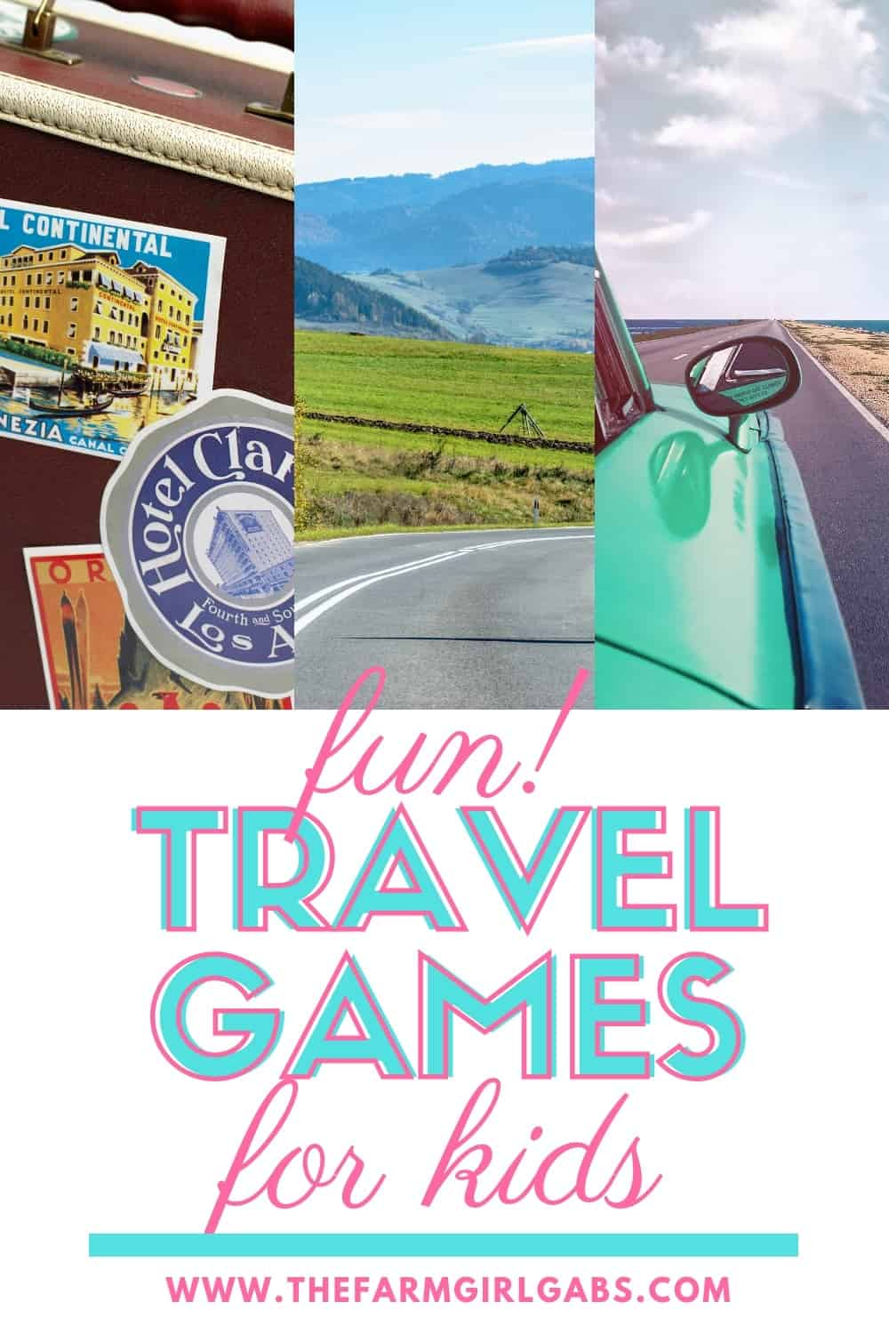 Planning on hitting the road this summer with the family? TheseFun Travel Games for Kids are a perfect way to keep the kids occupied on those long family vacation road trips. #familyvacation #kidsgames #traveltips #roadtripideas