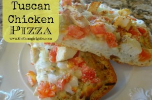 Tuscan Chicken Pizza