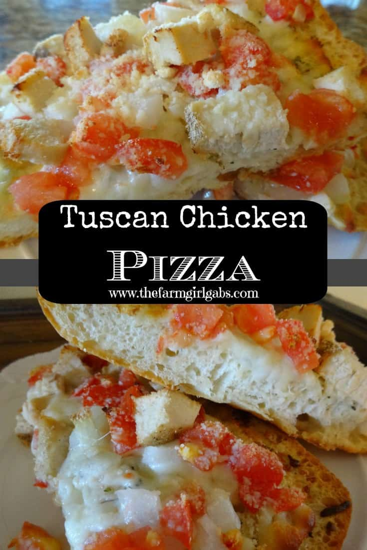 Tuscan Chicken Pizza from How Does Your Garden Grow? ~ www.thefarmgirlgabs.com