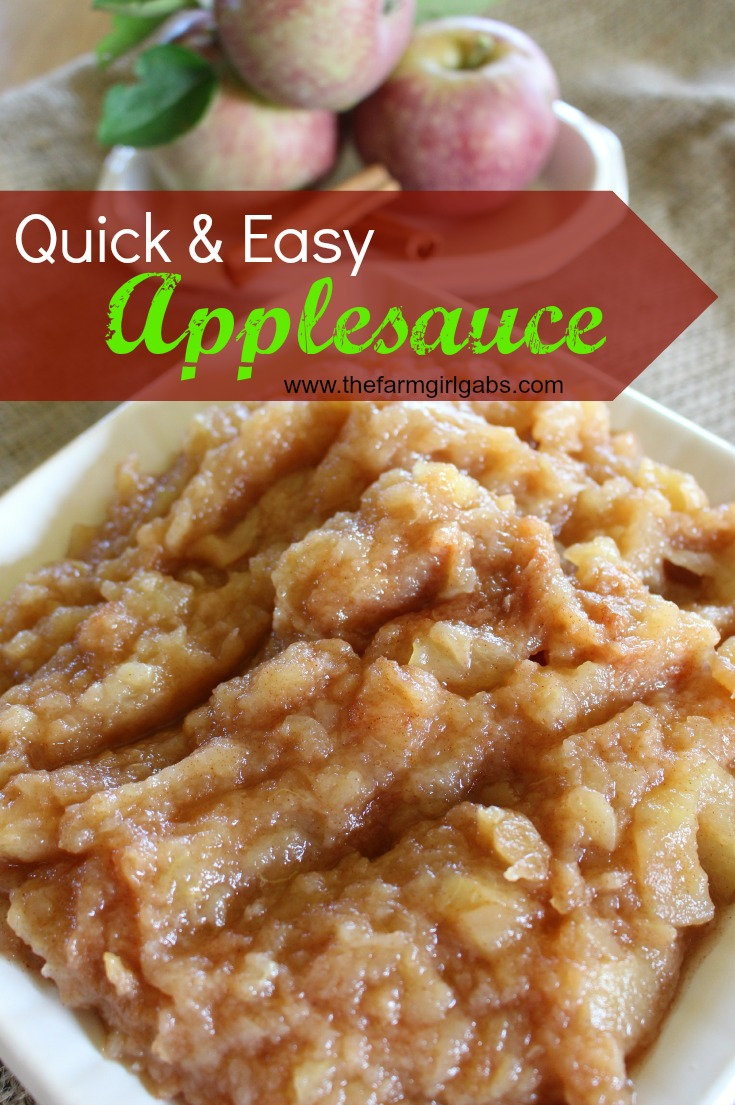 Quick & Easy Applesauce from How Does Your Garden Grow? ~ www.thefarmgirlgabs.com