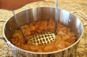 mashed apples