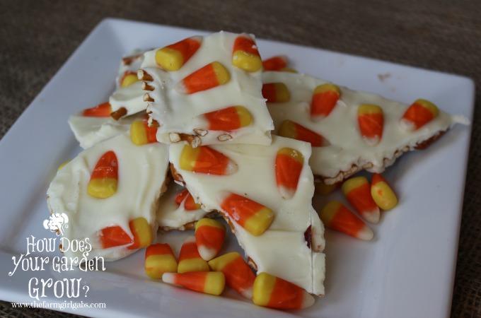 Candy Corn Preztel Bark - Feature 1
