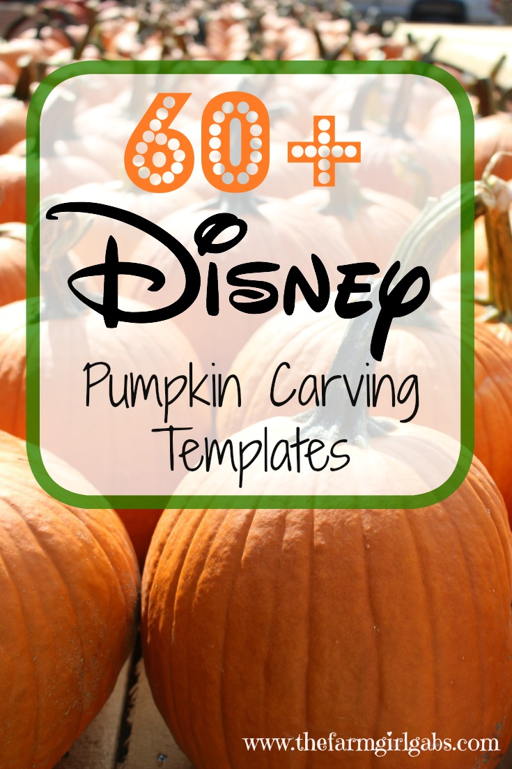 Over 60 Disney Pumpkin Carving Templates to create your Disney pumpkin masterpiece this Halloween.
