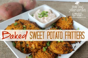 Baked Sweet Potato Fritters