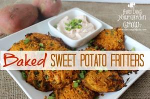 Baked Sweet Potato Fritters