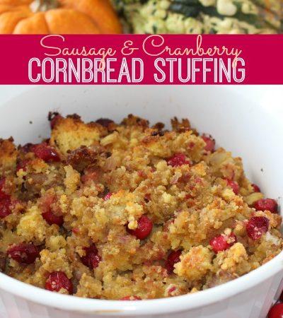 Sausage & Cranberry Cornbread Stuffing
