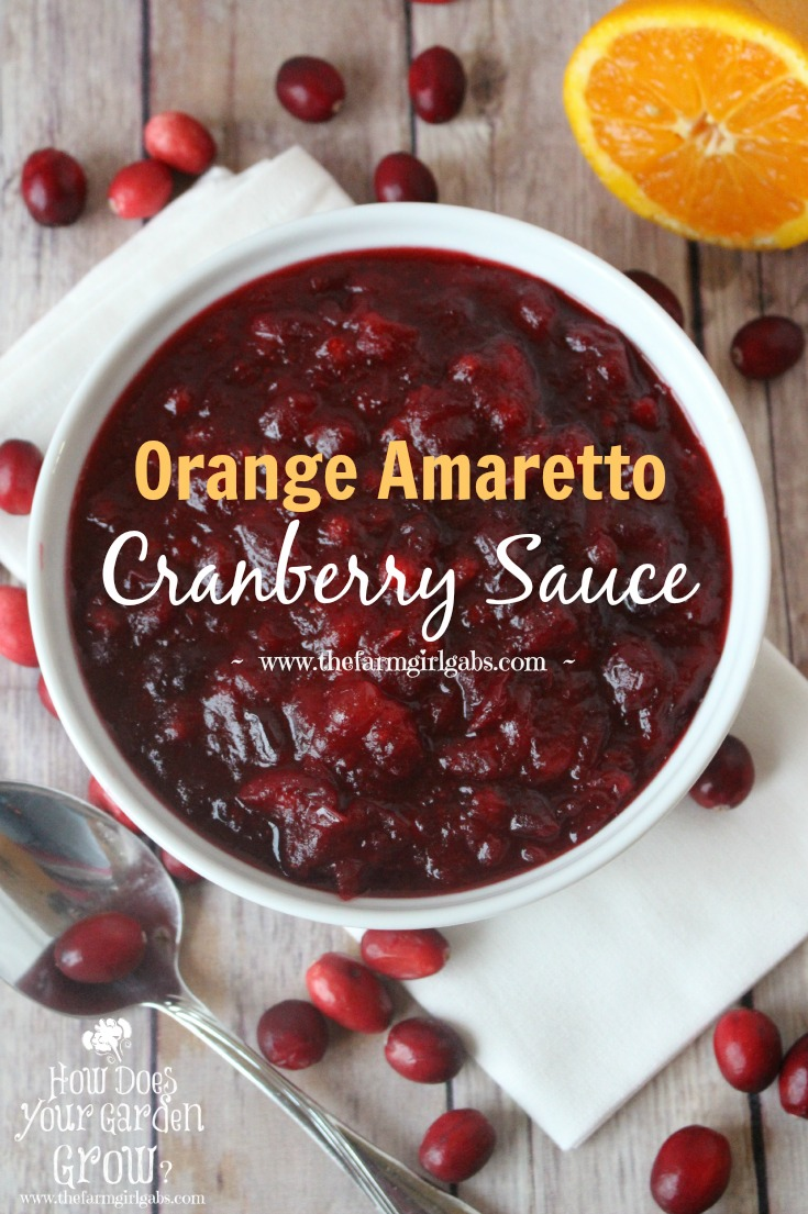 Orange Amaretto Cranberry Sauce is the perfect Thanksgiving dinner side dish. Tart cranberries, sweet orange and amaretto team up for this delicious fall recipe.