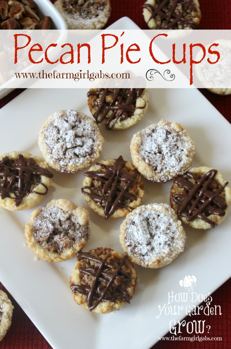 Pecan Pie Cups are a miniature cookie version of the sweet and nutty ...