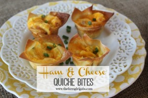 Ham & Cheese Quiche Bites
