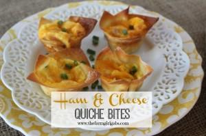 Ham & Cheese Quiche Bites