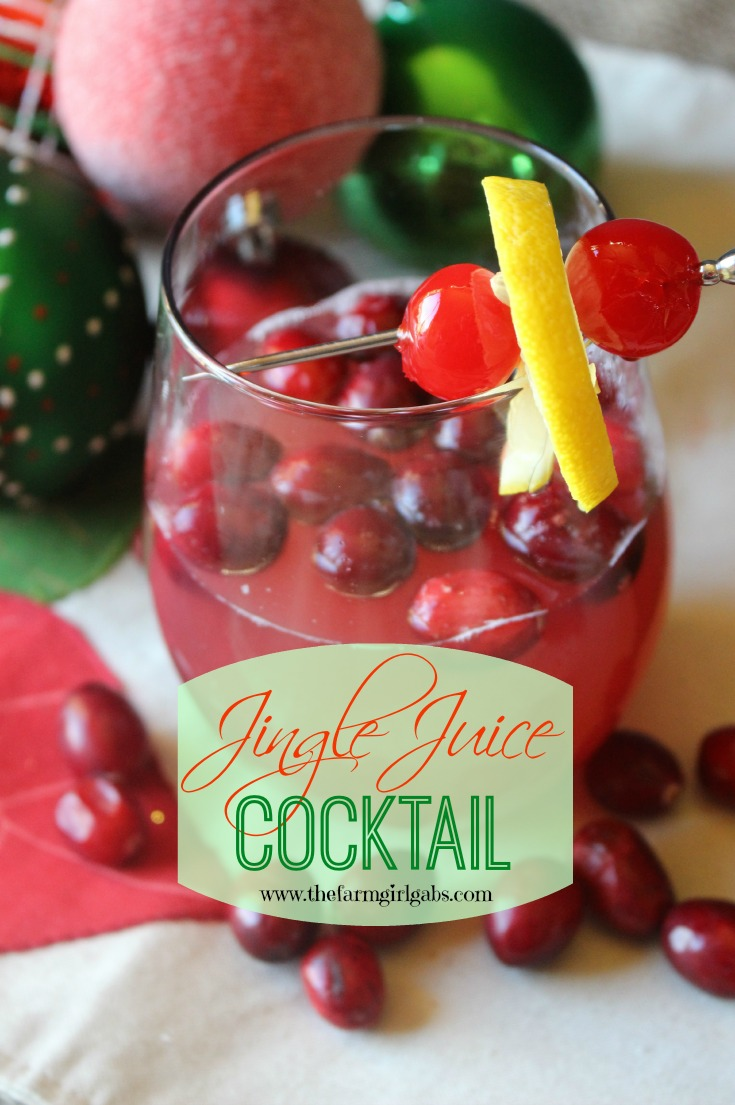 Put a little jingle in your juice and serve this refreshing Jingle Juice Cocktail at your holiday celebration! #cocktail #recipes #Christmas