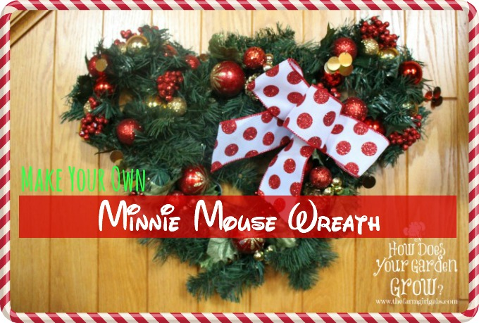 minnie mouse christmas wreath - Minnie Mouse Christmas Decorations