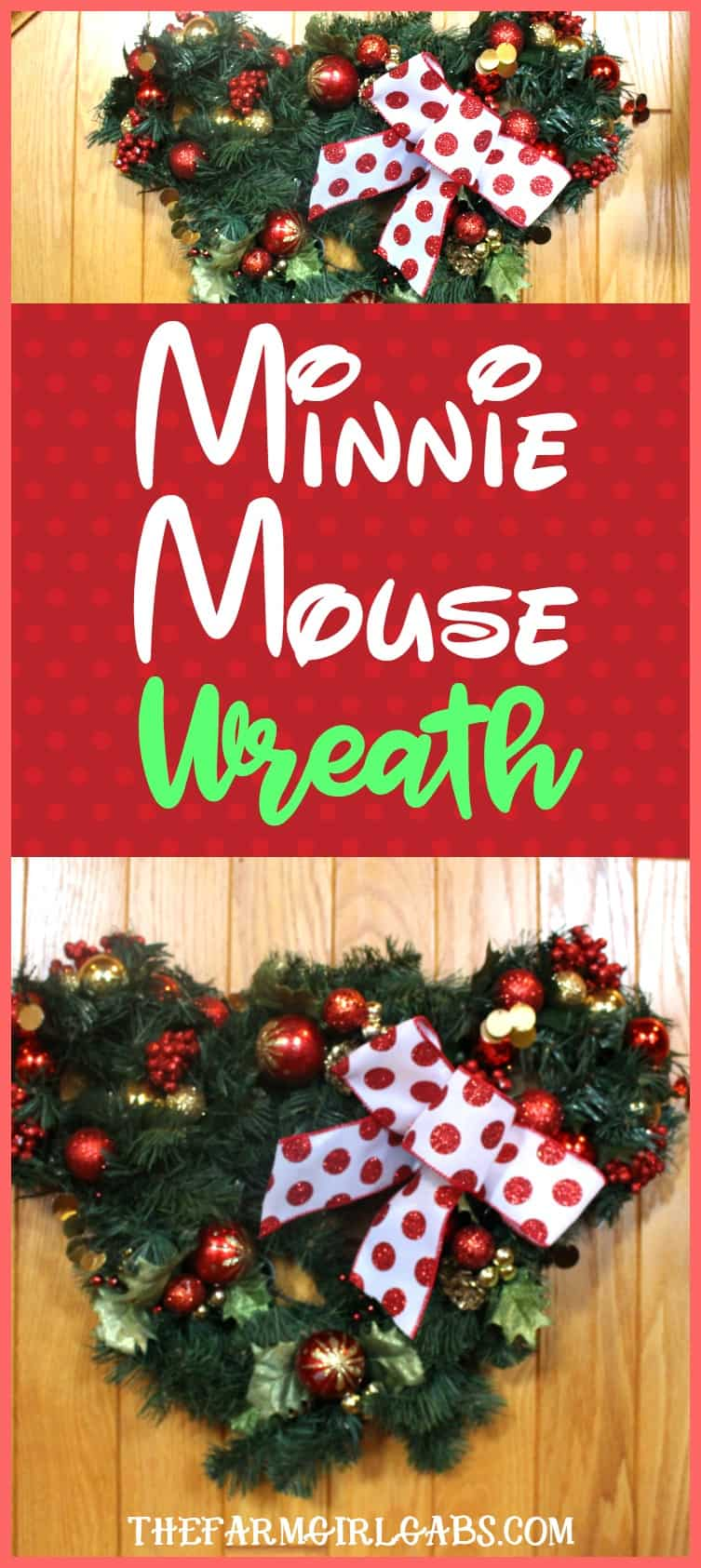 learn how to make the easy minnie mouse christmas wreath