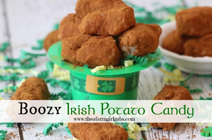 Boozy Irish Potato Candy