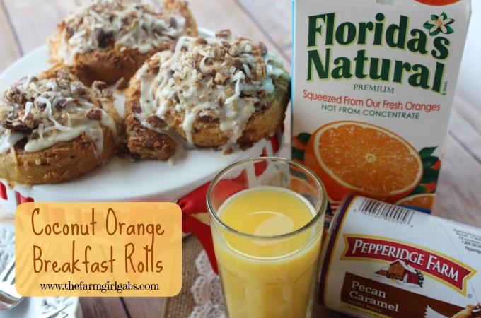 Coconut Orange Breakfast Rolls