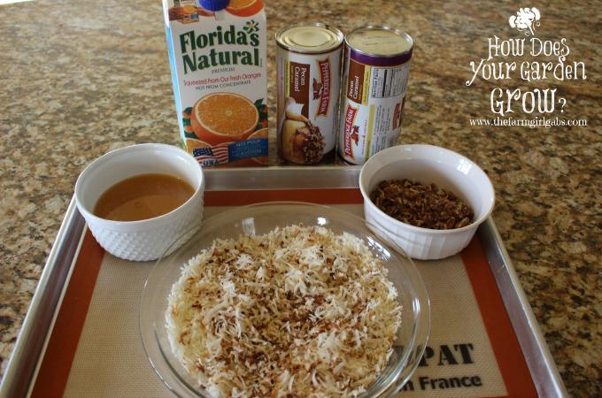 Coconut Orange Breakfast Rolls Ingredients