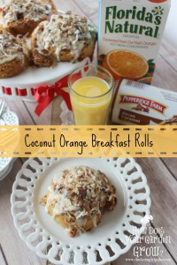 Pepperidge Farm Sweet Rolls are easily made into these delicious Coconut Orange Breakfast rolls. Serve them in addition to breakfast with a nice cold glass of Florida Orange Juice #Ad #WarmUpYourDay