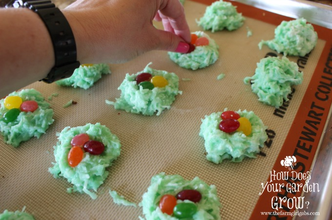Coconut Macaroon Egg Nests - Step 4