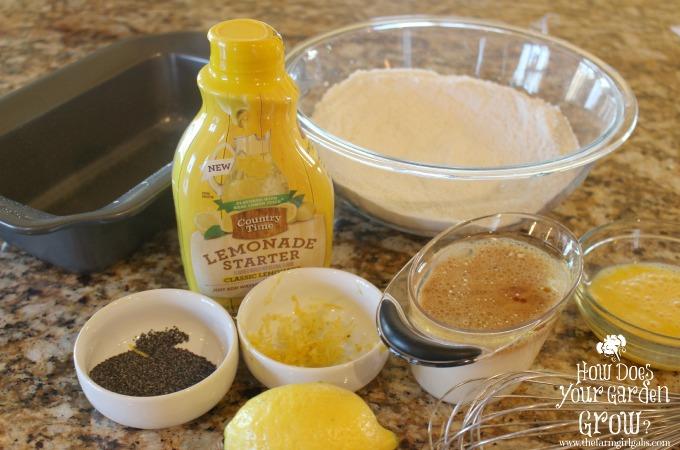 Glazed Lemon Poppy Seed Bread Ingredients