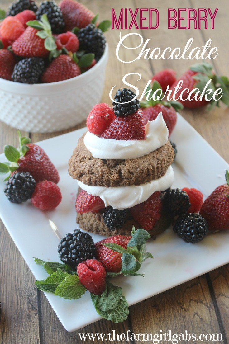 Mixed Berry Chocolate Shortcakes are the perfect Spring dessert. This easy recipe is a real crowd-pleaser. #SpringWithDriscoll #BerriesofSpring