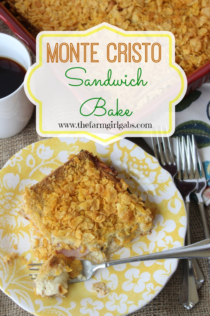 Monte Cristo Sandwich Bake is a perfect brunch menu item. It's perfect to casserole to serve on holidays or for a nice Sunday breakfast/brunch.