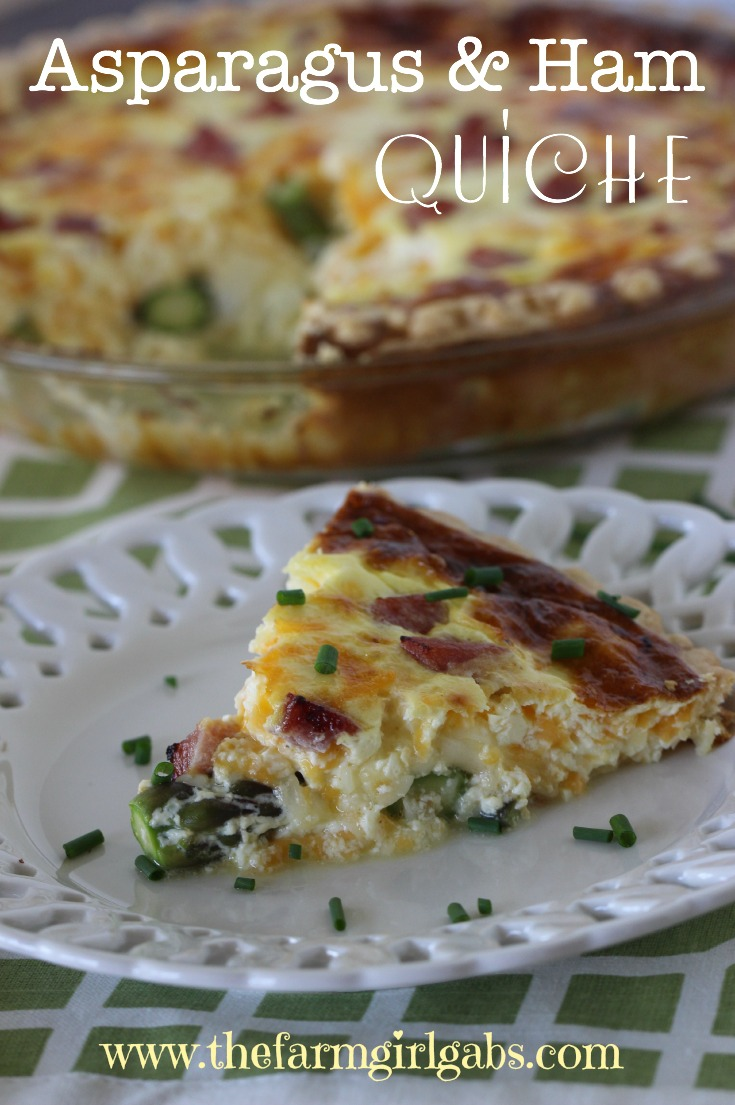 Asparagus & Ham Quiche is perfect for any meal - breakfast, brunch, lunch or dinner. This recipes uses Jersey Fresh asparagus.