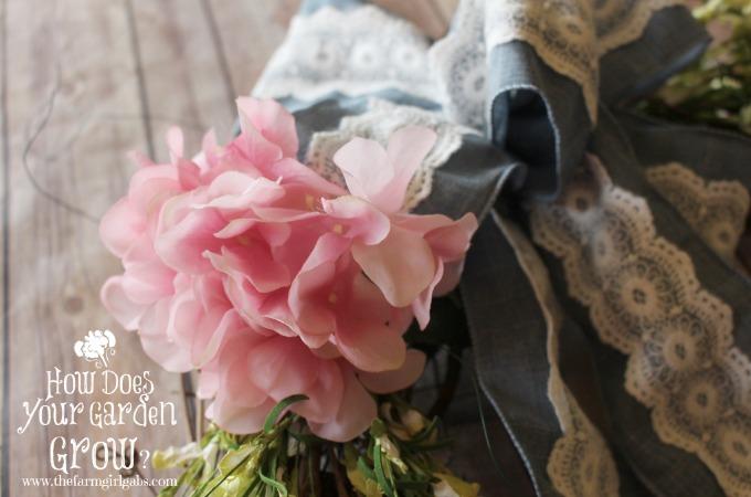 Floral Monogram Wreath - Step 3
