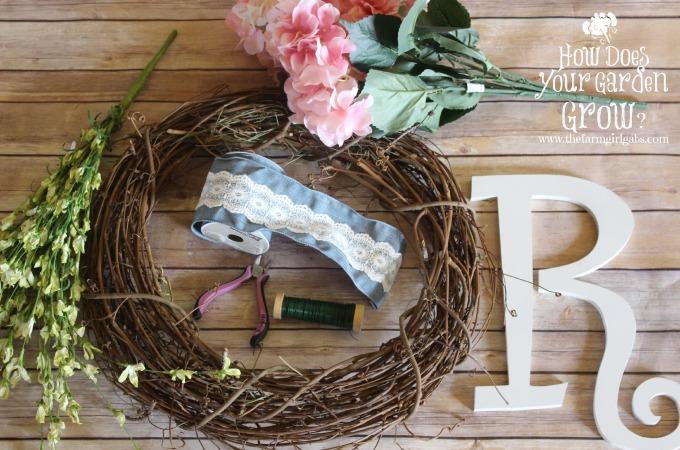 Floral Monogram Wreath Supplies