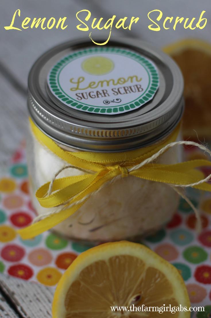 Make your own Lemon Sugar Scrub and exfoliate your dry skin.