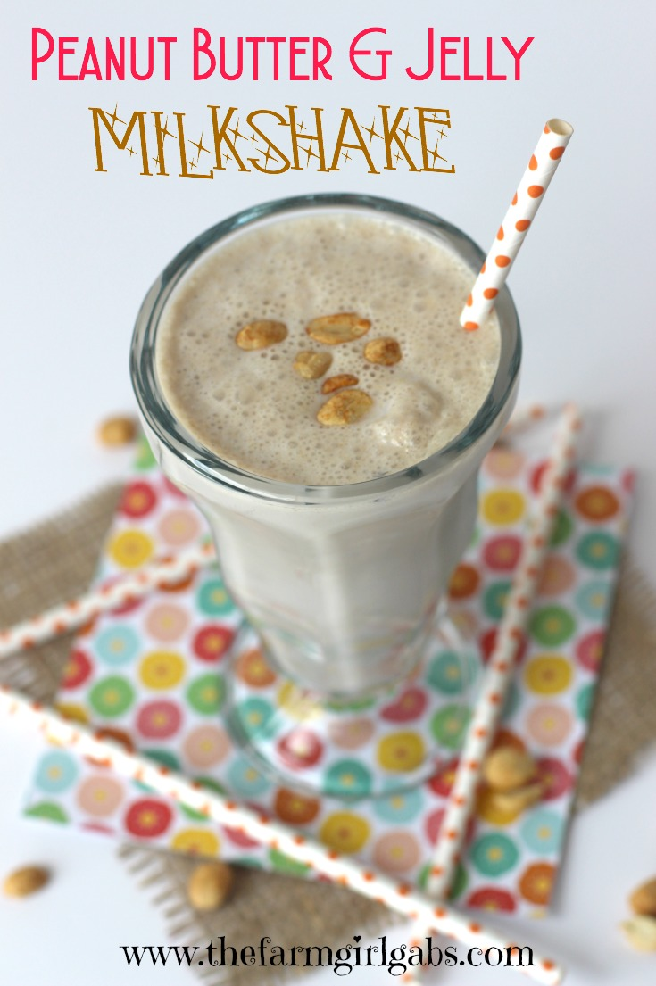Are you a fan of Peanut Butter & Jelly Sandwiches? Then you have to try this Peanut Butter & Jelly Milkshake. This is my copycat recipe of the original milkshake from The 50's Prime Time Cafe in Disney's Hollywood Studios. #DisneySide #DisneySMMC