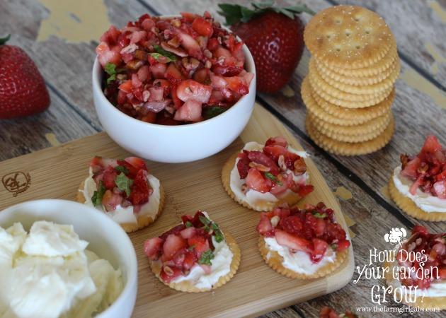 RITZ® Strawberry Bruschetta Bites - Feature 1