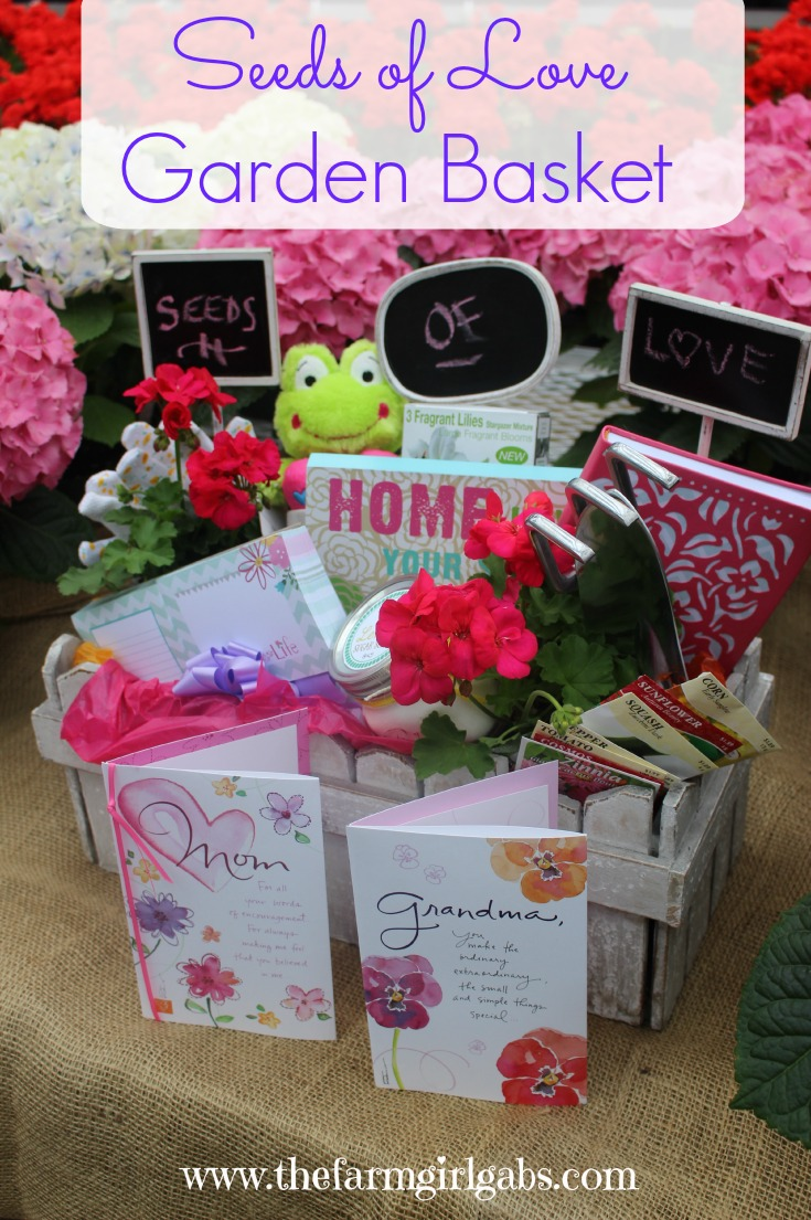 Surprise Mom this Mother's Day with this Seeds of Love Garden Basket. A great gift idea for the gardener in your life! #Ad #BestMomsDayEver