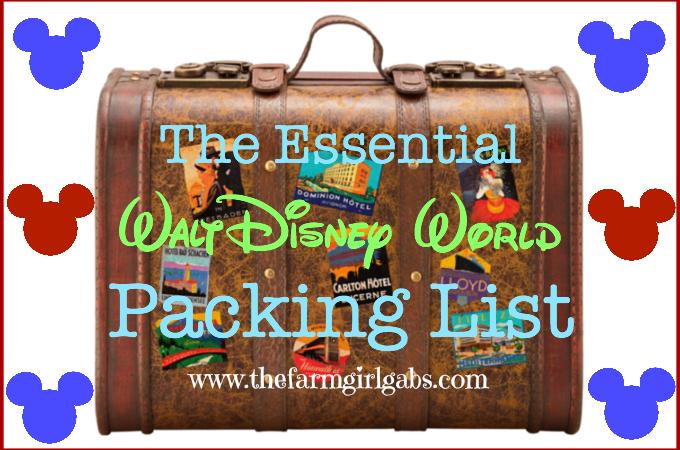 The Essential Walt Disney World Packing List