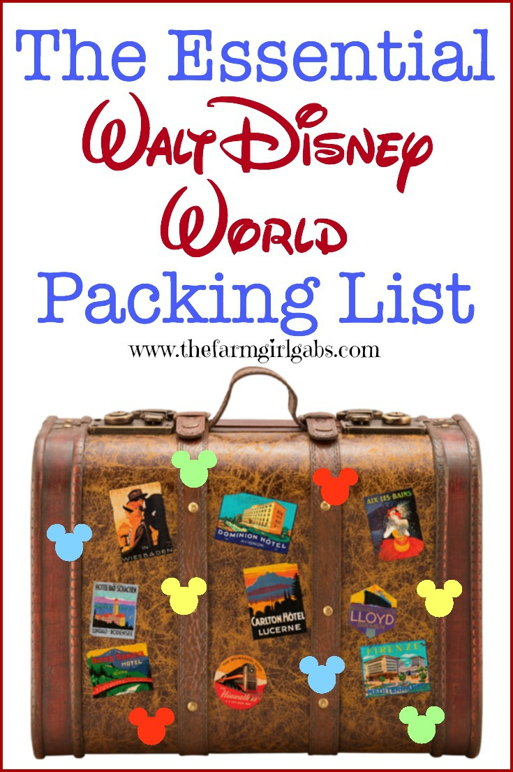 The Essential Walt Disney World Packing List is a great resource for your vacation to the Walt Disney World Resort. This checklist includes all the essential items you need to pack for your Disney vacation. #familytravel #DisneySMMC #WaltDisneyWorld