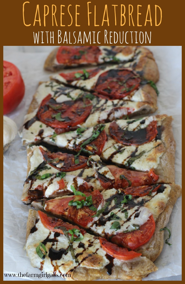 Caprese Flatbread with Balsamic Reduction recipe.