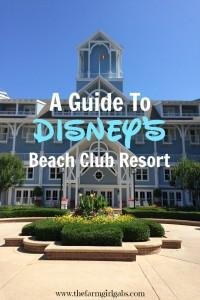 A Guide To Walt Disney World's Beach Club Resort. #DisneySMMC