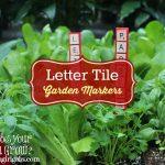Letter Tile Garden Markers