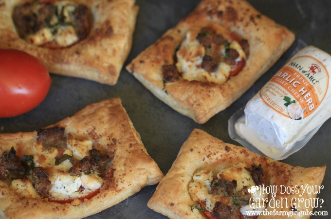 Sausage Tomato & Goat Cheese Tarts - Feature 1