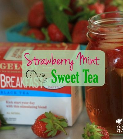 #Ad Strawberry Mint Sweet Tea is the perfect refreshing summer cool-down drink. #MeAndMyTea