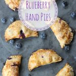 Blueberry Hand Pies are a delicious mini-pie dessert made with fresh blueberries. This easy recipe is the perfect snack. #blueberryrecipe #pie #blueberrypie