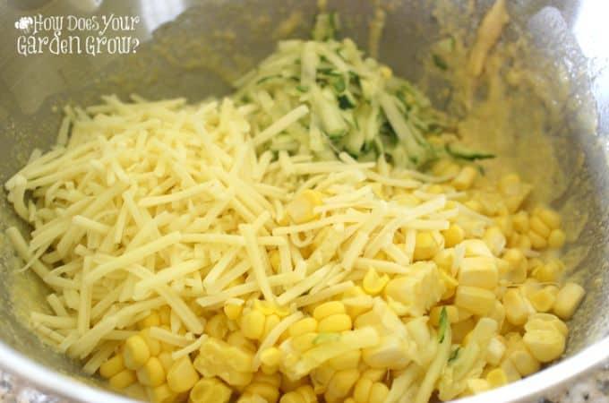Corn Zucchini Fritter Batter