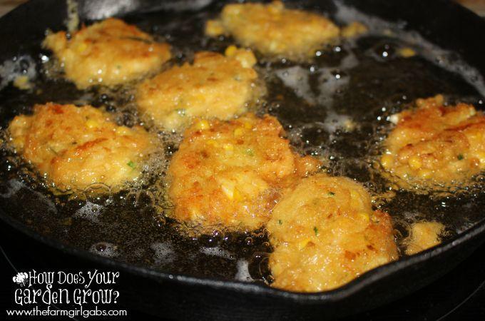 Corn Zucchini Fritters - Cast Iron
